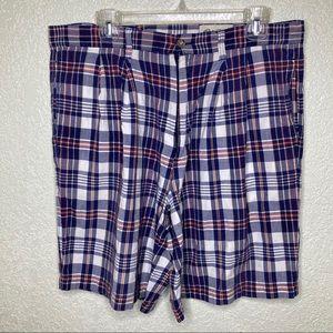 Eddie Bauer Plaid Shorts Size 36 Spot On Front